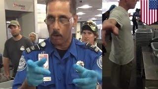 موظف في أمن المطار يهدد فتاً مراهق بسبب التصوير أثناء التفتيش