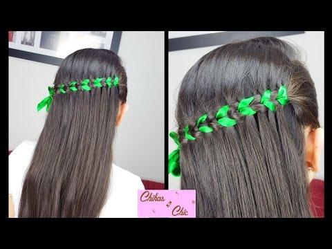 scissor-waterfall-braid-(ribbon)|-braided-hairstyles-|-cute-girly-hairstyles-|-half-up-hairstyles