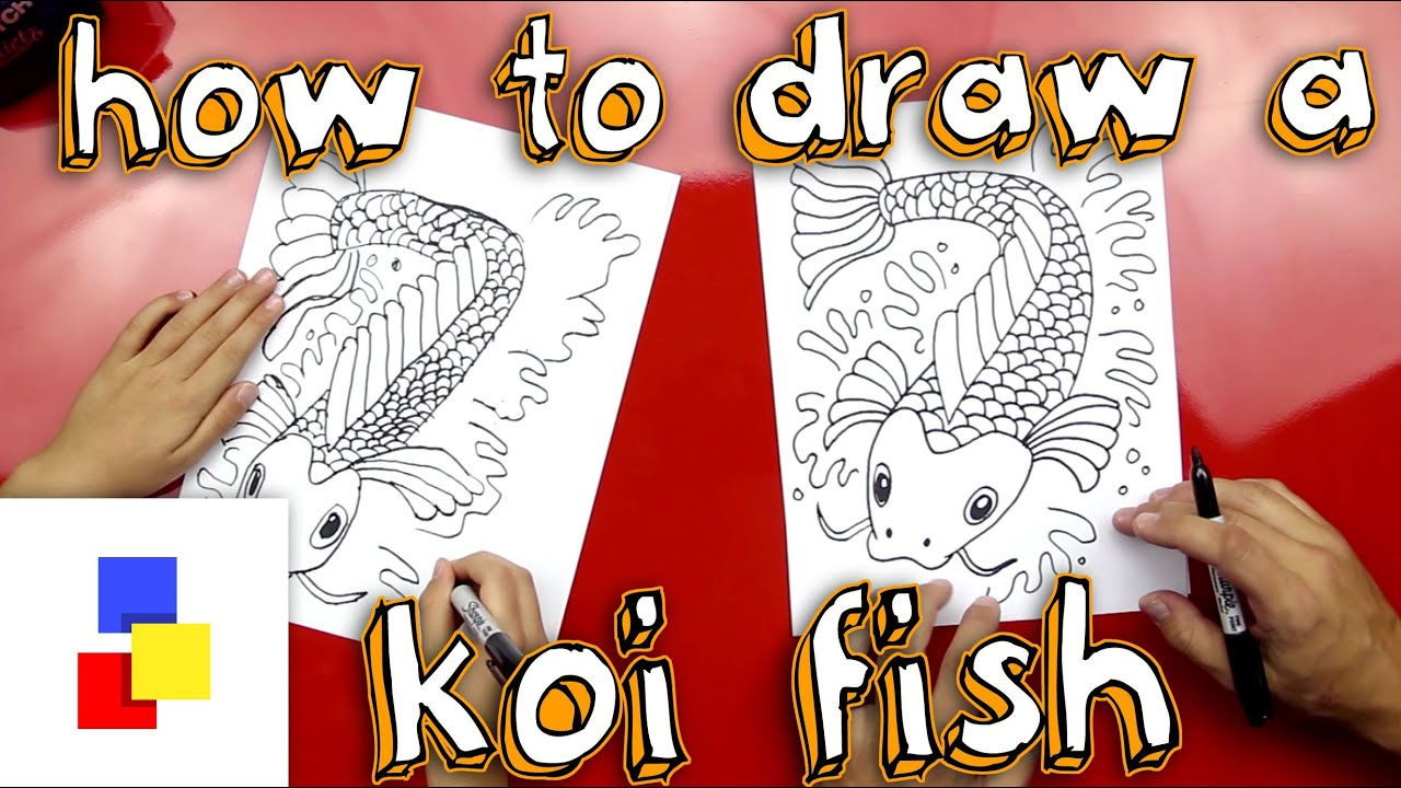 Uncategorized How To Draw A Koi Fish how to draw a koi fish youtube fish