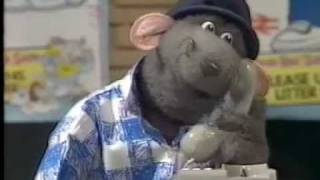Roland Rat saying hello to me on TV-AM