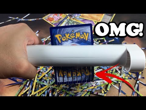POKEMON FLIP IT OR SHRED IT! - PAPER SHREDDING GONE WRONG!