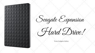 Seagate Expansion Hard Drive Unboxing Overview And Read Write Speed Test