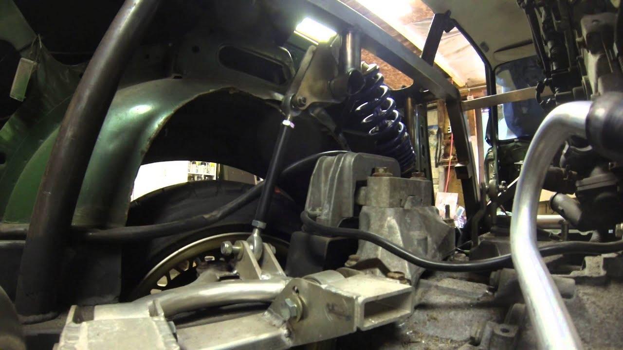 VW Scirocco R >> Mid-Engine VR6 Scirocco Bellcrank Coilover Rear Suspension ...