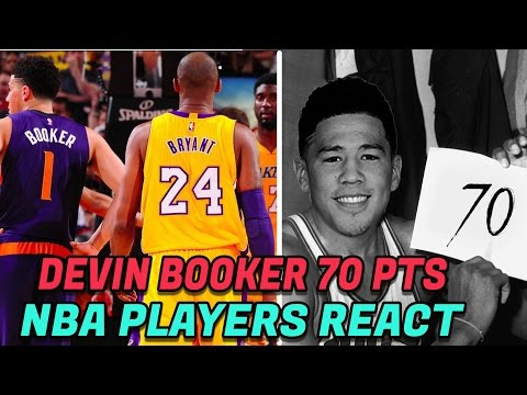 NBA PLAYERS REACT TO DEVIN BOOKER'S 70 POINT GAME! 70 POINTS YOUNGEST PLAYER IN NBA HISTORY!
