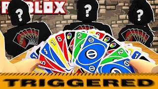 THE MOST RAGEY GAME OF ROBLOX UNO EVER!!! (Getting 70+ Cards)