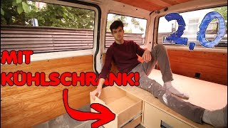 The ultimate BEDDING BOX for my VW T4 Camper! (with freezer!) | E.05 VW Bus Reconstruction 2.0