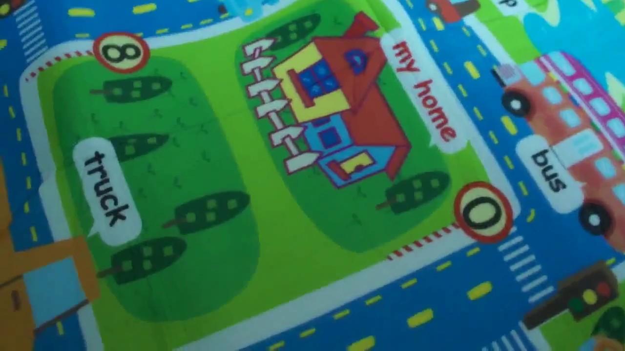 Детский коврик для ползания серии Disney с игровым полем и фишками .