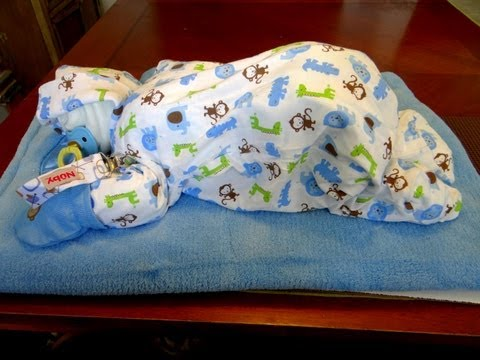 How To Make Sleeping Baby Out Of Diapers