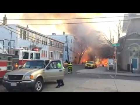 RAW: Video shows firefighters respond to massive Cambridge fire