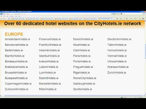 CityHotels.ie makes booking a hotel worldwide much easier