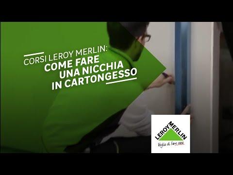 Corsi leroy merlin: realizzare una nicchia in cartongesso   youtube