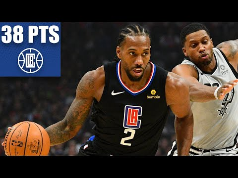 kawhi-leonard-dominates-with-38-points-against-the-spurs-|-2019-20-nba-highlights