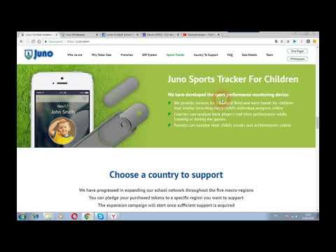 JUNO - большая в мире сеть футбольных академий для объединения детей на блокчейн