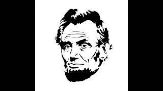 How to draw Abraham Lincoln face drawing step by step