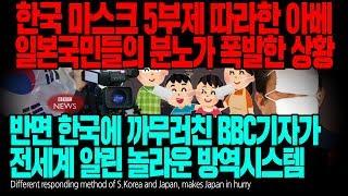 한국 마스크 5부제 따라한 아베 일본국민들의 분노가 폭발한 상황 반면 한국에 까무러친 BBC기자가 전세계 알린 놀라운 방역시스템 [ENG SUB]