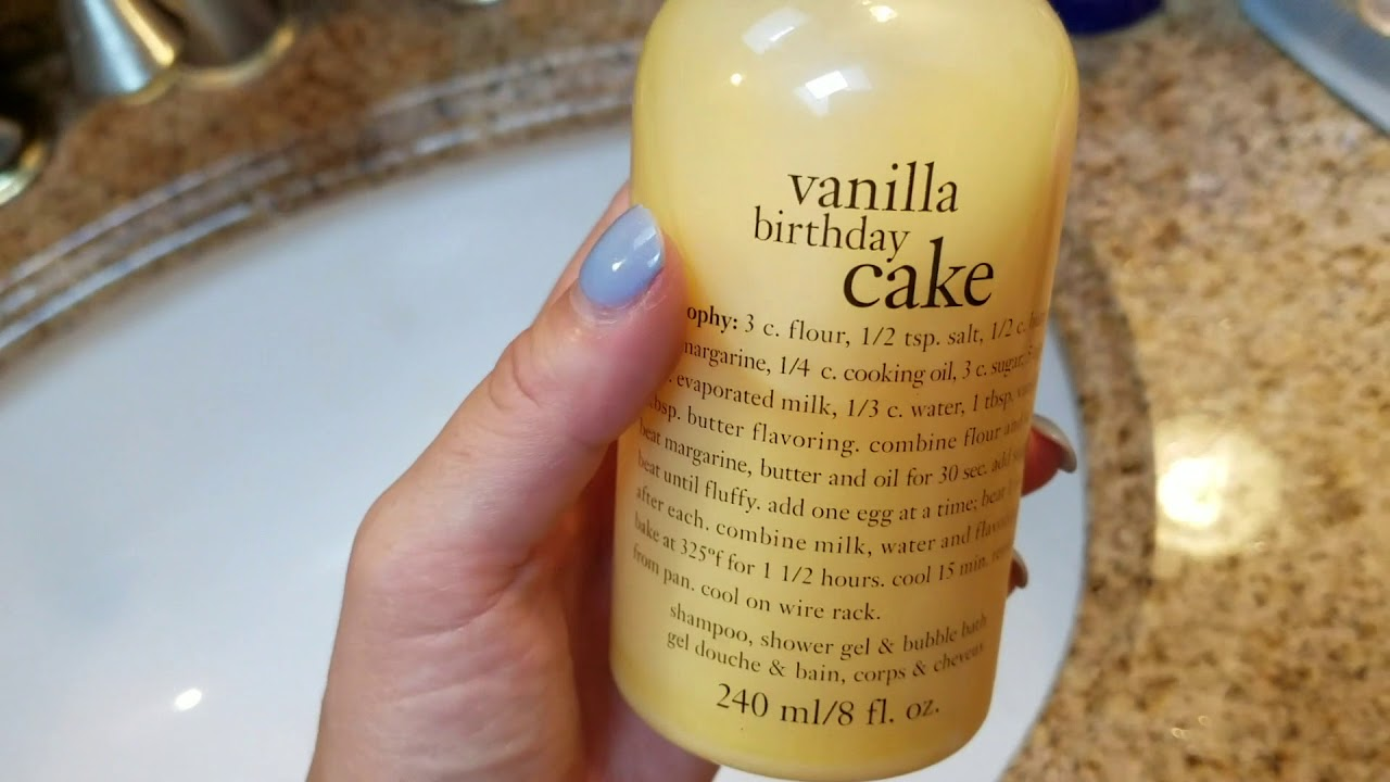 How To Use Philosophy Vanilla Birthday Cake Shampoo Shower Gel