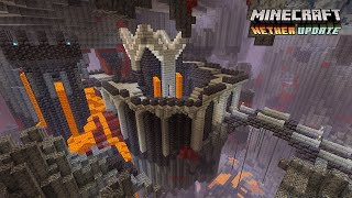 Minecraft: Nether Update - Basalt Biome Castle (Speed Build)