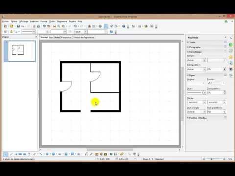 Comment réaliser un plan architectural électrique avec Open office - YouTube