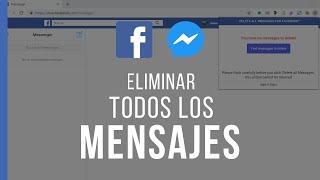 Eliminar Todos los Mensajes del Facebook - Messenger Rapido con un Solo CLICK
