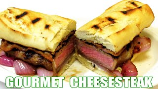Grilled Steak And Cheese Sandwich - Gourmet Cheesesteak Recipe