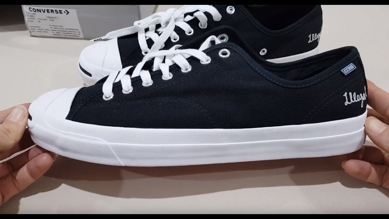 Unboxing CONVERSE JACK PURCELL PRO OX ILLEGAL CIVILIZATION MENS SNEAKERS SHOES (100% ASLI & RESMI)