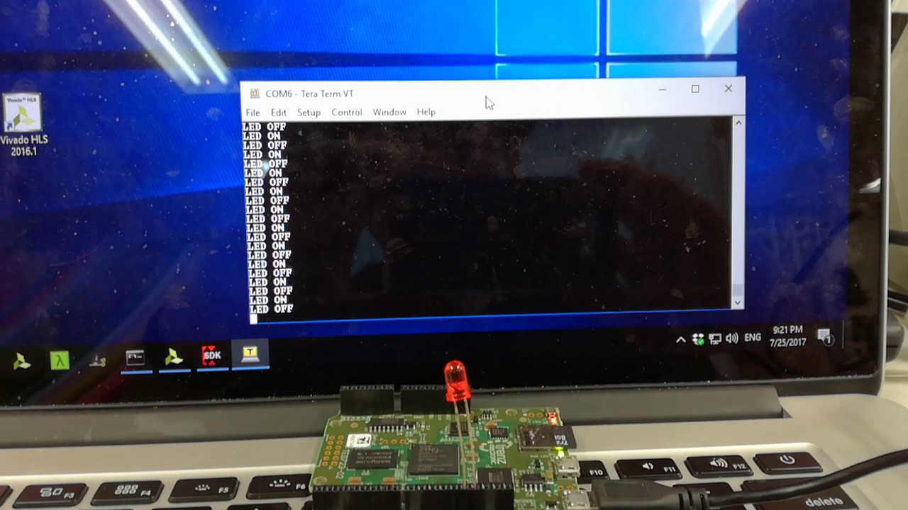 ArduZynq AXI GPIO test using Xilinx SDK