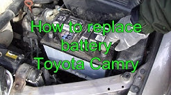 How to replace battery Toyota Camry. Years 1991 to 2015.