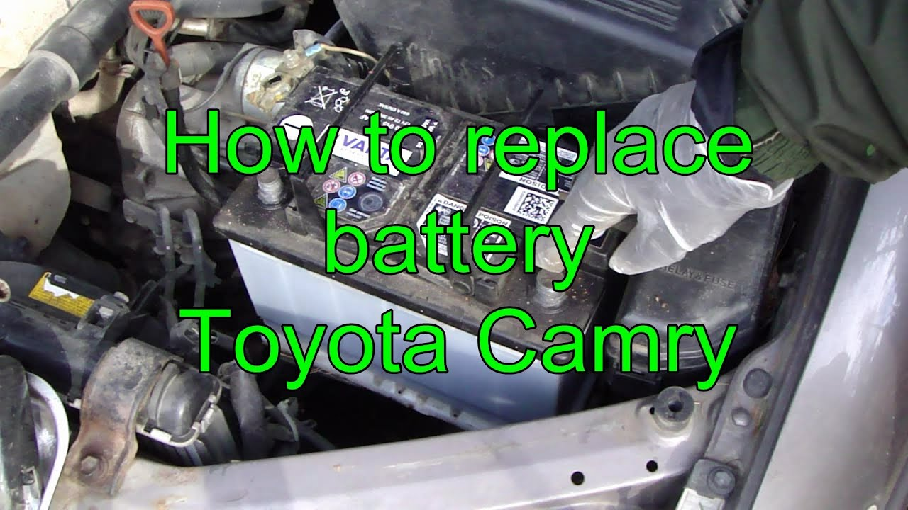 how to replace battery toyota camry years 1991 to 2015 youtube. Black Bedroom Furniture Sets. Home Design Ideas