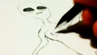 How To Draw An Alien - Drawing Realistic Extraterrestrials