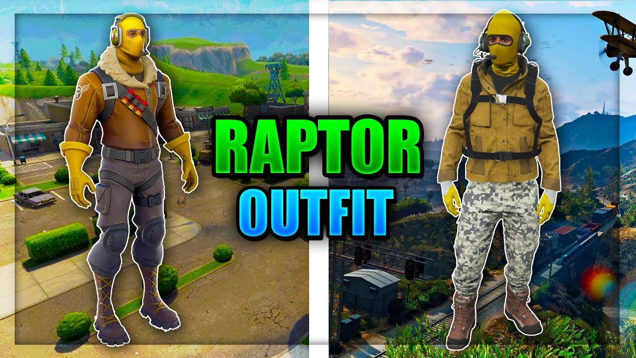 GTA 5 ONLINE - HOW TO MAKE THE FORTNITE RAPTOR OUTFIT IN ...