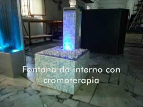 Pareti Dacqua Da Interni : Fontana da interno a lama dacqua con cromoterapia rgb youtube
