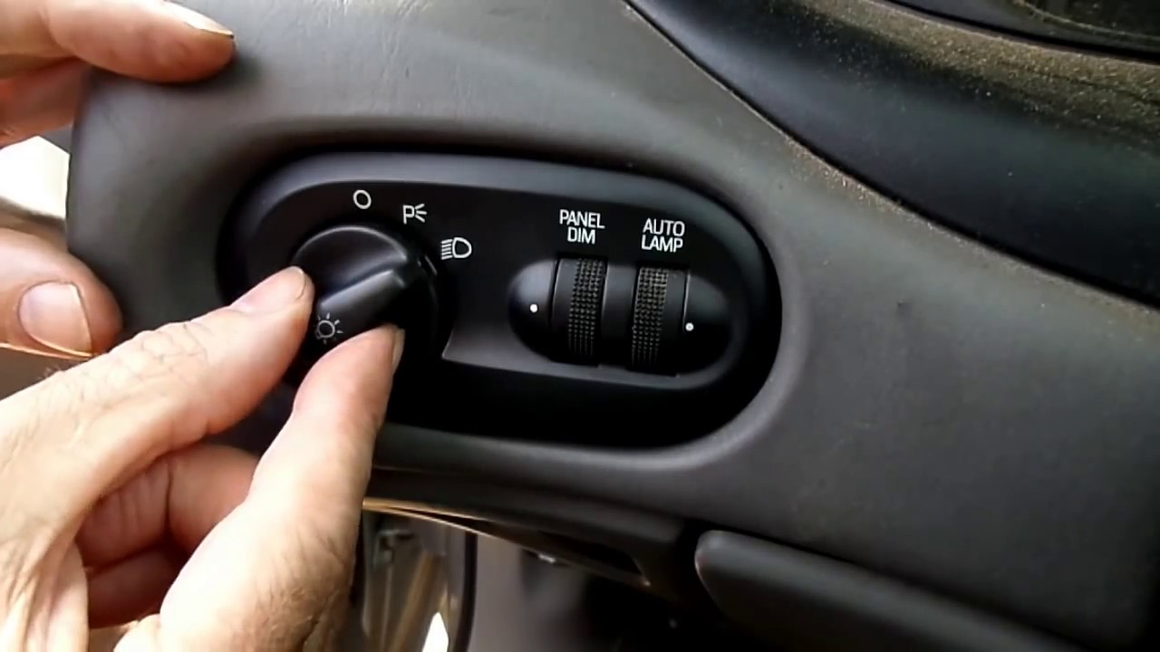 Headlight Switch Replacement : Taurus sable f headlight switch replacement youtube
