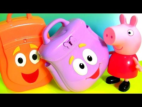 9a3241577e8 Surprise Dora the Explorer Backpack & Diego Rescue Talking Backpack  Surprise Eggs Go,Diego,Go