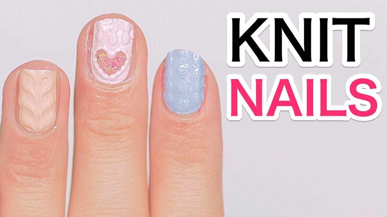 Kawaii Macaron Knit Gel Nail Art Tutorial By Fashion Model Misako Aoki 青木美沙子のニットネイル講座