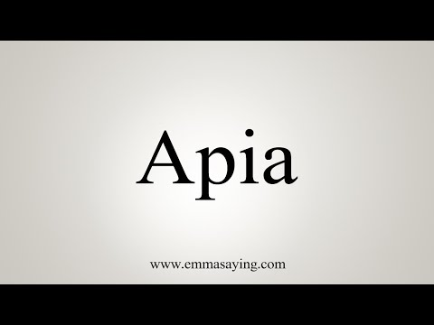 How To Say Apia