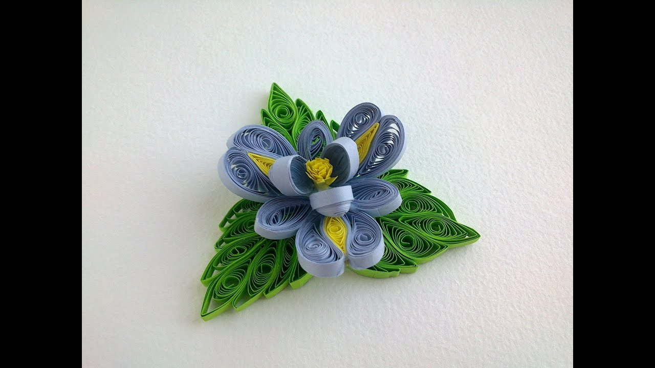 Quilling tutorial flowers how to make quilling flower and for Quilling how to