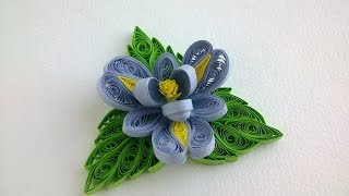 Quilling tutorial Flowers: How to make  Quilling Flower and Quilling Leaves.
