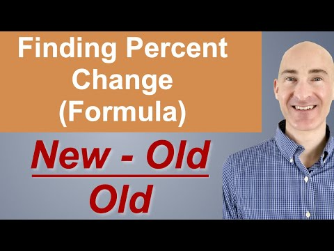 Finding Percent Change (Formula)