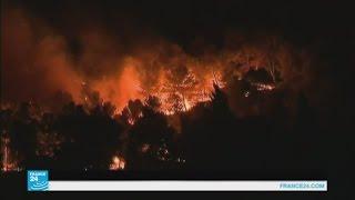 رجال الإطفاء يواصلون كفاحهم لاحتواء حرائق هائلة شمال مرسيليا