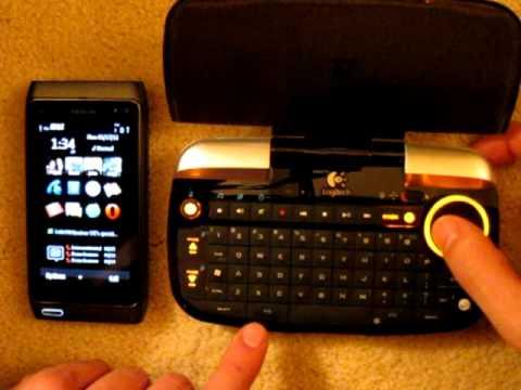 Nokia N8 with Logitech diNovo Mini (bluetooth keyboard)