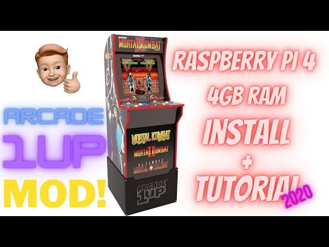 Arcade1UP Raspberry Pi 4 (4GB RAM) Install + Tutorial MOD 2020! Mortal Kombat Cabinet Conversion! from Nutmeister