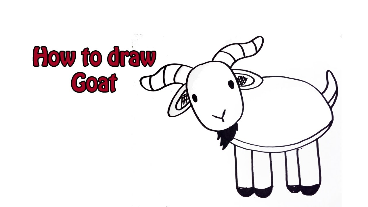 How to Draw Cartoon Goat