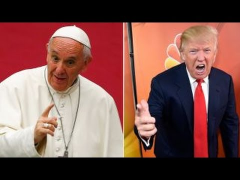 Pope prays for journalists, Trump trashes 'rigged' media