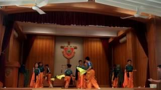 2016-2017聖博德學校會員大會(獅藝組旗操表演)