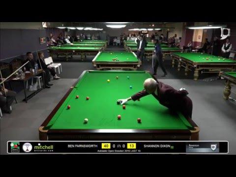 Ben Farnsworth v Shannon Dixon | Last 16 |City of Adelaide Snooker 2016