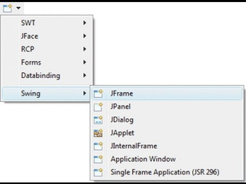 How to install java JSwing/window builder option in eclipse neon 2016