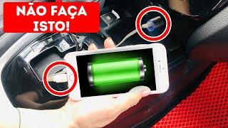 Carregar Telefones no Carro Leva Anos, Não Faça Mais Isso