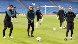 Fc barcelona training ahead of manchester city - fc barcelona