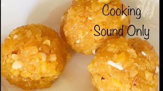 Making Laddu with Cooking sound..!!!/ASMR COOKING VIDEO/How to make Laddu/how to make Boondhi Laddu