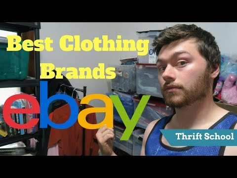 How to Find All the Best Clothing Brand to Sell on Ebay for FREE!